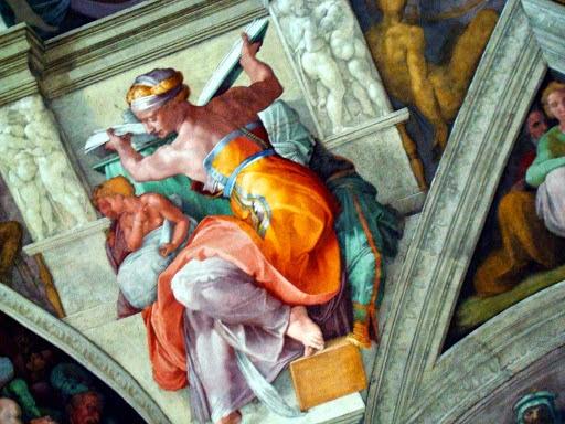 376-sibilla Libica Michelangelo 1511