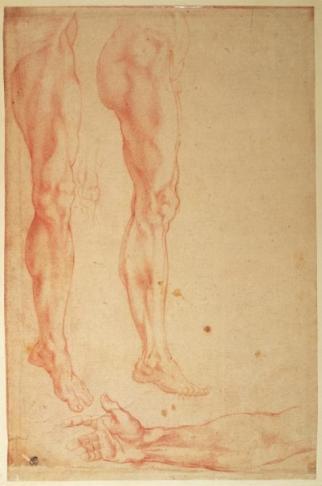 Michelangelo Buonarroti -Studio di gambe e braccia