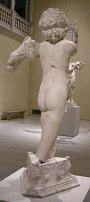 180px-Michelangelo_(attr.),_giovane_arciere,_1491-92_ca._02