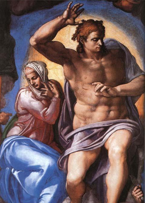 cappella-sistina-giudizio-universale-dettaglio-cristo-giudice