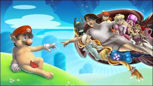 La_creazione_di_Michelangelo_stile_Nintendo