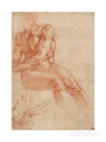 michelangelo-buonarroti-seated-young-male-nude-and-two-arm-studies-recto
