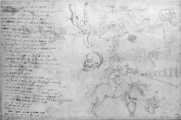 Michelangelo Buonarroti - Vari schizzi e un poema