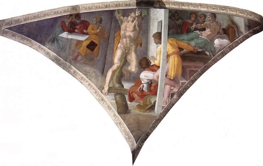 Michelangelo,_Punishment_of_Haman_01