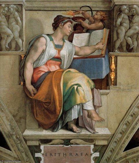 MichelangeloBuonarroti-sistinechapelceilingsybilserithraea
