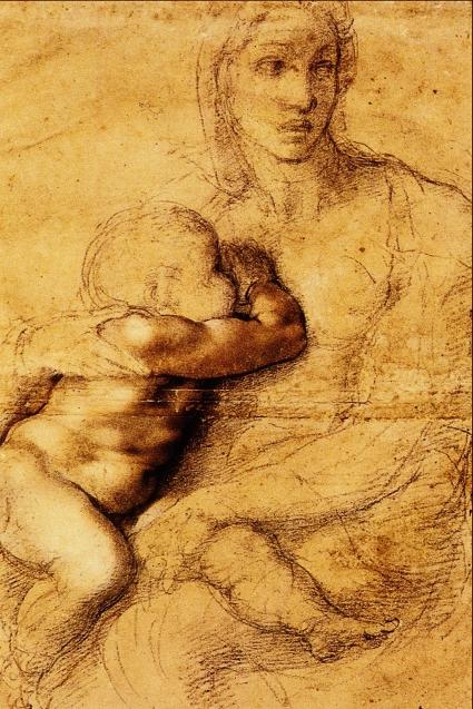La_Madonna_che_Allatta_il_Figlio_-_Michelangelo_Buonarroti