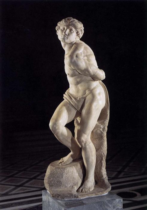 Michelangelo-Buonarroti-Slave-rebelling-