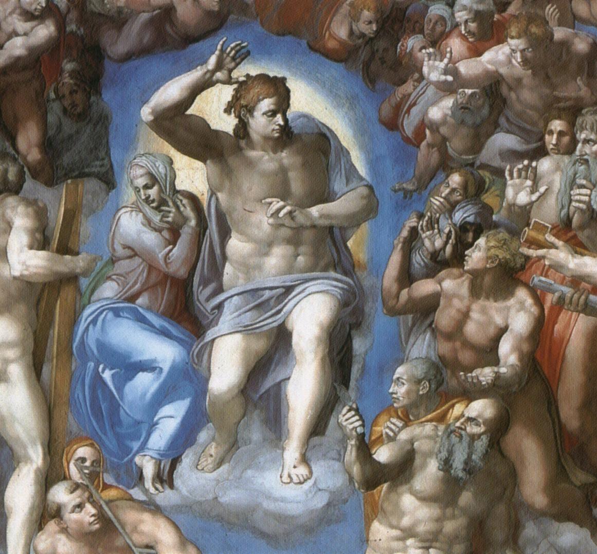 michelangelo-giudizio-universale-cristo-e-la-madonna