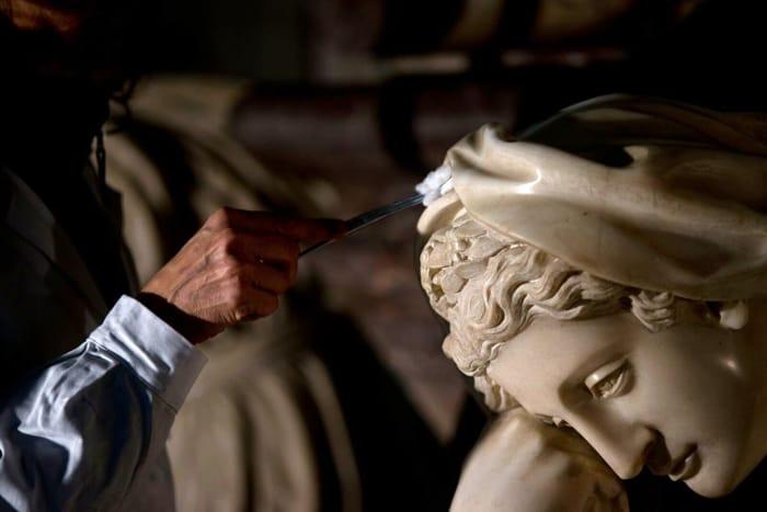 Restauro tomba monumentale Michelangelo (1)