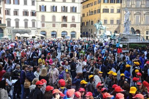 1 Maggio: Firenze invasa da turisti