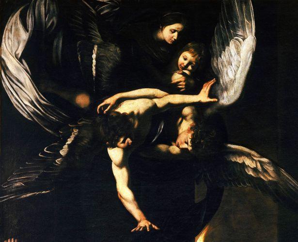 Sette_opere_di_Misericordia_-_Madonna_col_Bambino_e_angeli