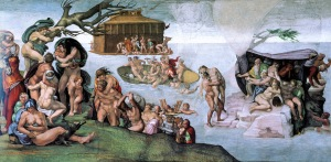 The Deluge by Michelangelo c. 1504