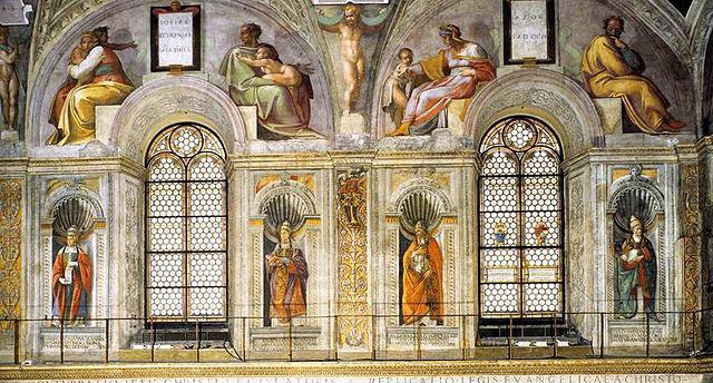 Le lunette della cappella sistina michelangelo for Decorazione quattrocentesca della cappella sistina
