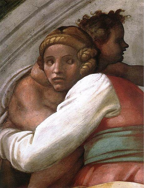 462px-Michelangelo,_lunetta,_Josiah_-_Jechoniah_-_Shealtiel_02