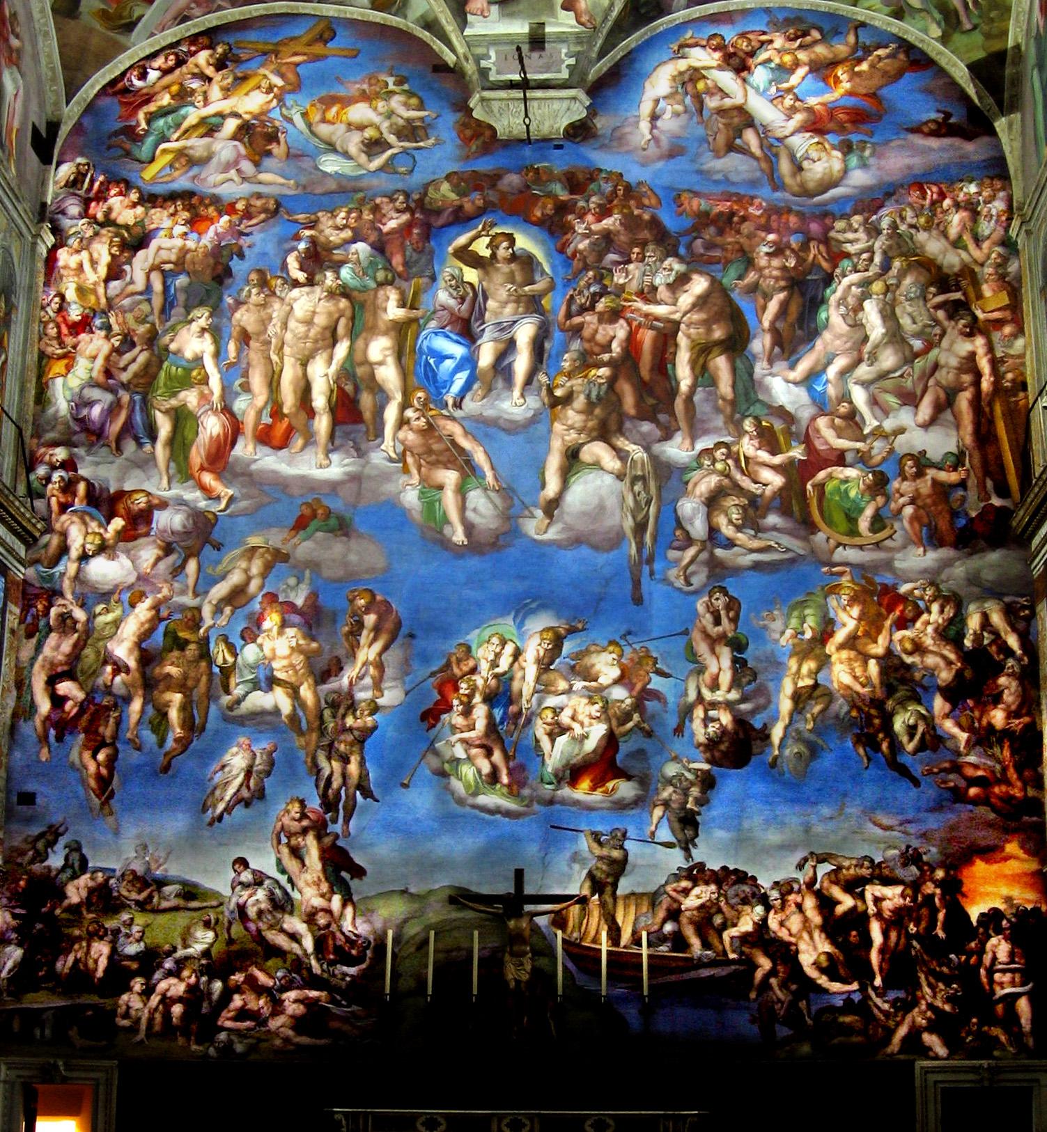 Giudizio Universale roma San Pietro Cappella Sistina