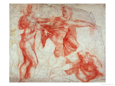 michelangelo-buonarroti-studies-of-male-nudes