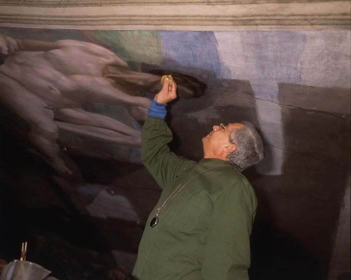 Scansione da dia 6x7 cm (Laboratorio Restauro Pitture)