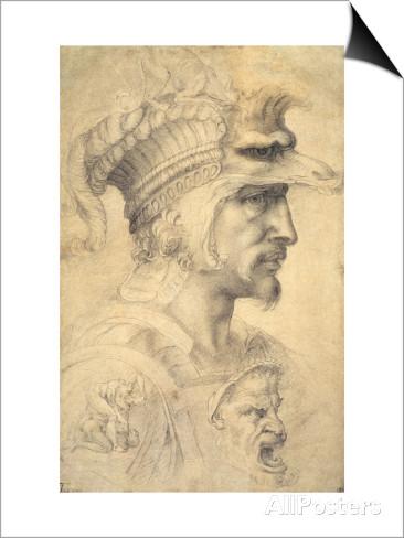 michelangelo-buonarroti-ideal-head-of-a-warrior