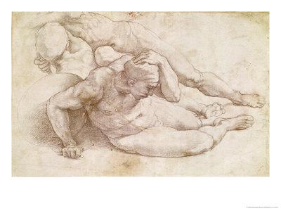michelangelo-buonarroti-study-of-three-male-figures