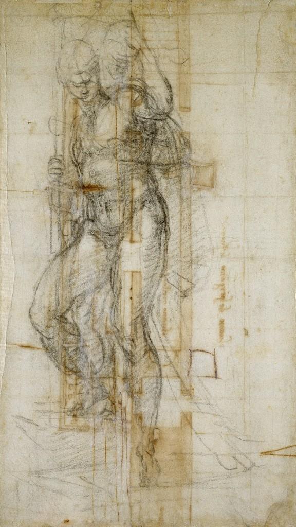 Michelangelo Buonarroti - Piano della piattaforma del reliquiario interno di San Lorenzo e il balcone esterno non eseguito