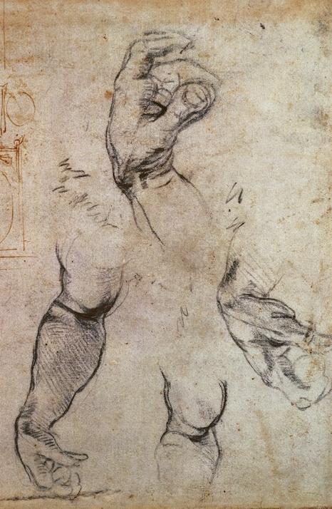 Michelangelo Buonarroti - Studi di mani