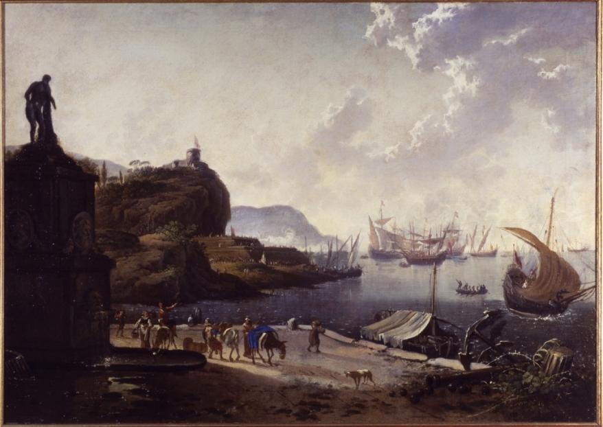 Hans-de-Jode-Porto-di-mare-olio-su-tela-cm-70x99