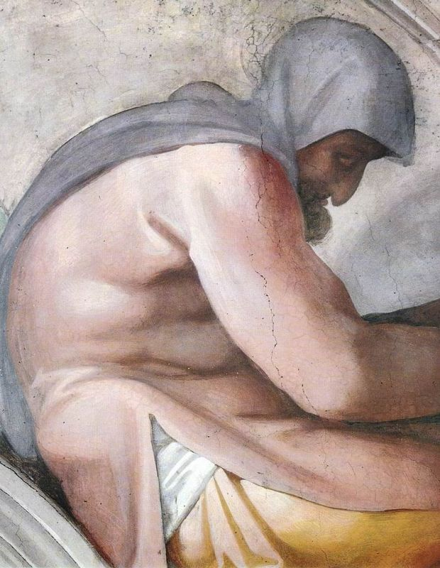 800px-Michelangelo,_lunetta,_Hezekiah_-_Manasseh_-_Amon_04