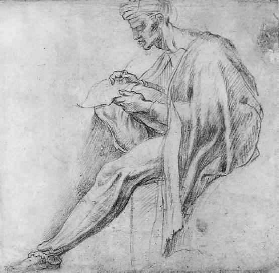 Michelangelo Buonarroti - Studio per la figura a sinistra nella lunetta di Asa - Iosaphat - Ioram.png