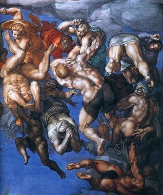 Michelangelo+Giudizio+universale+partic.1