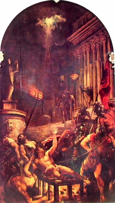 -tiziano-il-martirio-di-san-lorenzo Il martirio di San Lorenzo, cm. 280, Chiesa dei Gesuati, Venezia
