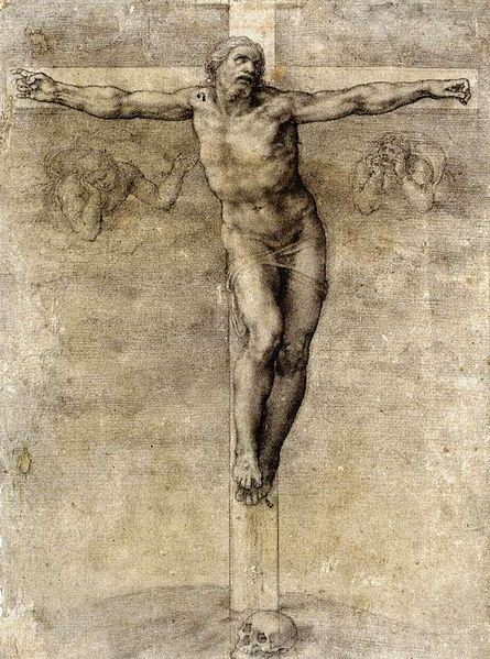 445px-Michelangelo_Buonarroti_-_Christ_on_the_Cross_-_WGA15516
